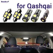 Canbus lâmpada led para matrícula, lâmpada + luz de pé + mapa interior, domo, para nissan, qashqai, j10, j11 2007 2019