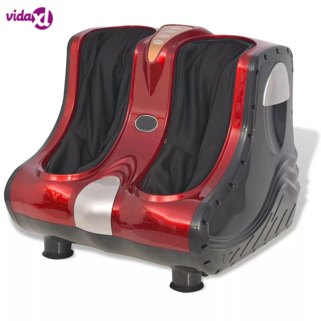 VidaXL Shiatsu Massage Device Red Feet And Calves Shiatsu Kneading Rolling And Heating Function Massage Device V3