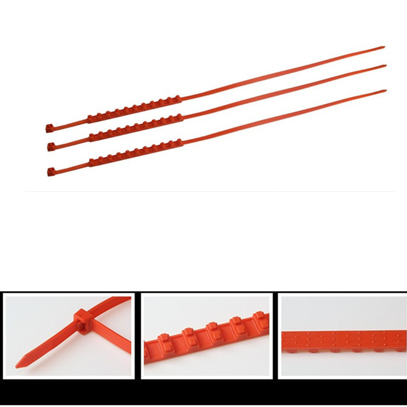 Chunmu Snow Chains Car-styling Spikes For Tires 1Pcs Winter Snow Chains For Car Mud Wheel Tyre Thickened Tire Tendon