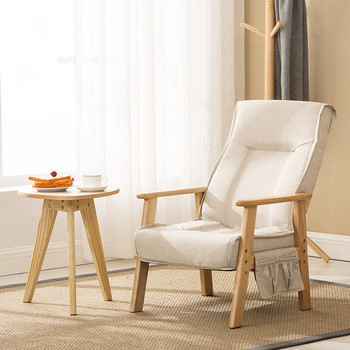 Foldable Padded Armchair Single Elderly Chair Solid Wood Frame Suitable for Bedroom Balcony Living Room Furniture Accent Chair mid century modern style armchair sofa chair legs wooden linen upholstery living room furniture bedroom arm chair accent chair