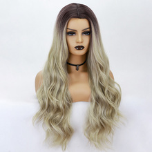 Long Wavy Wigs middle part 26inch Synthetic Wigs