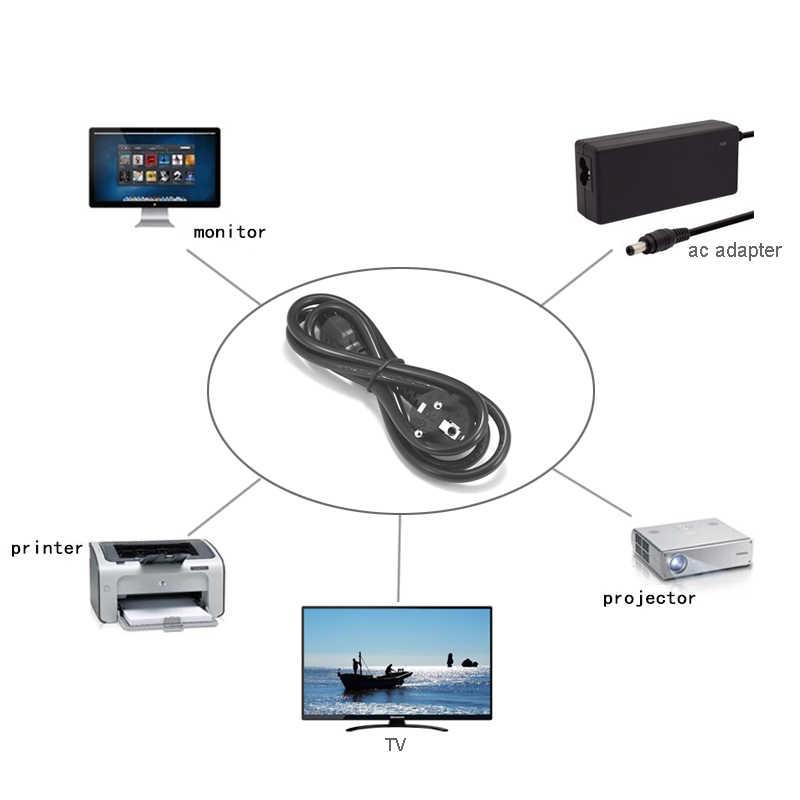 Dizüstü bilgisayar güç kablosu 1.5m 10ft Euro ab tak IEC C5 konektörü güç kaynağı kablosu Asus Dell HP dizüstü bilgisayar LG TV yazıcı projektör
