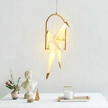 лучшая цена Modern Thousand Paper Cranes Led Pendant Lights Light Fixtures Living Room Restaurant Hanging Lamp Luminaire Suspension Lighting