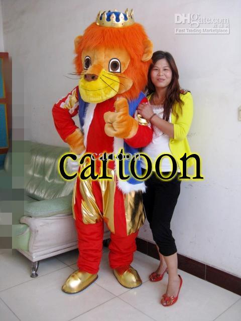 Профессиональный Забавный костюм талисмана короля льва для взрослых; нарядное платье для дня рождения; костюмы для костюмированной вечери