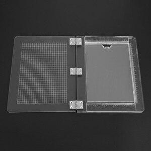 Image 3 - 25.5*21cm TỰ LÀM Con Dấu Tem Chặn Cho Thêu Sò Trong Suốt Tay Cầm Cao Độ Trong Suốt Acrylic Miếng Lót Giá Đỡ DIY Trang Trí Dụng Cụ