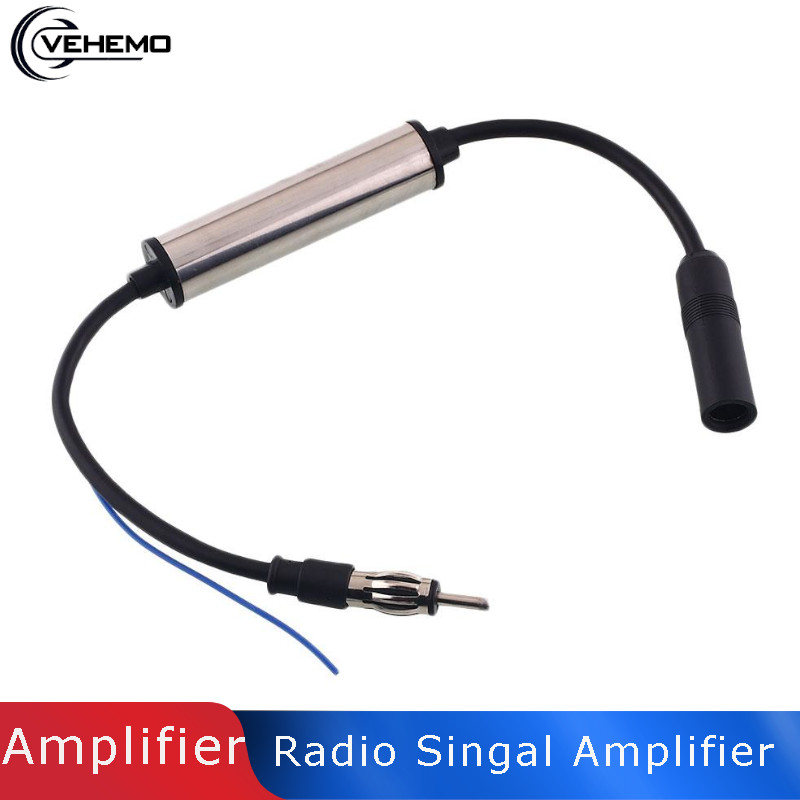 Car Stereo FM/&AM Radio Signal Antenna Aerial Signal Amp Amplifier Booster Inline