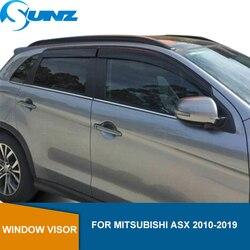 Akrylowe okno deflektor wiatrowy Visor deszcz osłona przeciwsłoneczna i od wiatru dla Mitsubishi ASX 2010 2011 2012 2013 2014 2015 2016 2017 2018 SUNZ