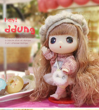 Ddung Baby Doll Toys 18cm Vinyl 3Y+ Dress up Cute Sweet Soft Fashion Mini Princess kids Knitted Hat Sweater Doll(China)