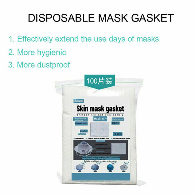 100Pcs Anti-Flu Gasket Face Mask Pad Replacement Filter Activated Carbon Breathing Filter Disposible Mouth Mask Pad 5