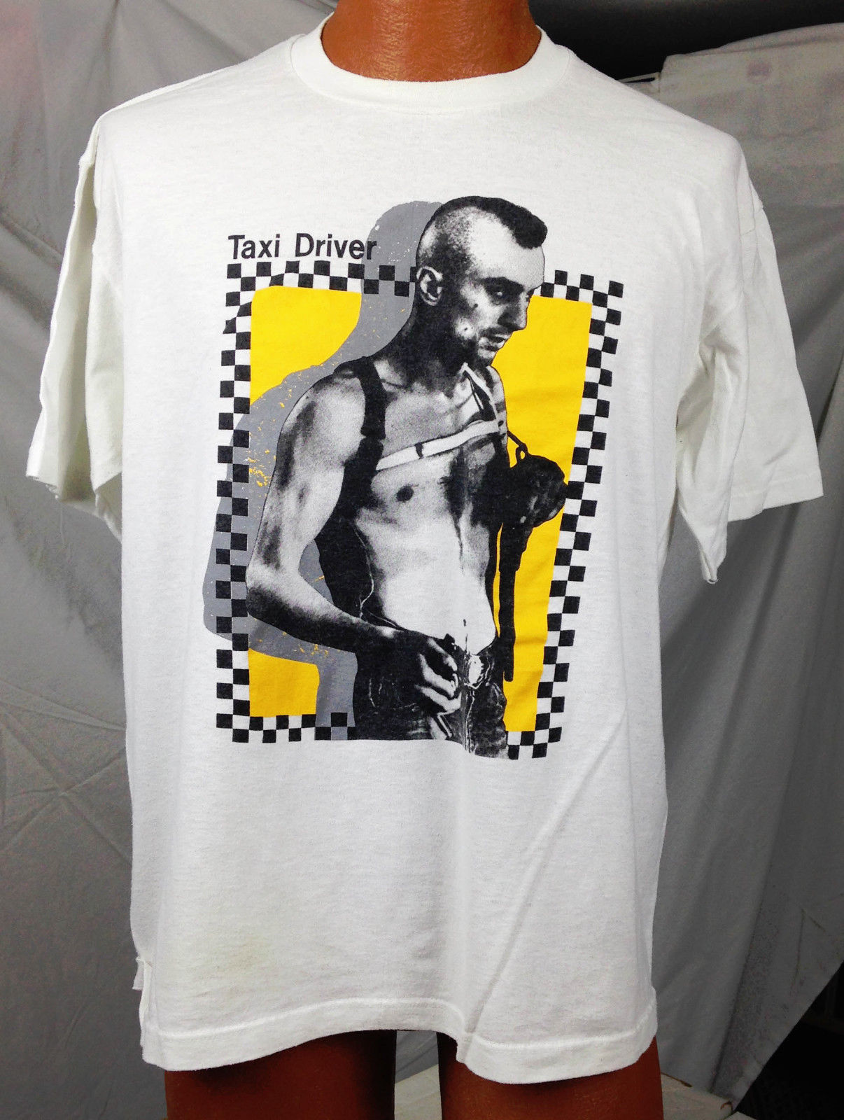 Hot Rare Vintage Taxi Driver - Late '80s PUNK Robert DeNiro Best T-shirt Reprint Hot 2019 Summer Men'S T Shirt Fashion image