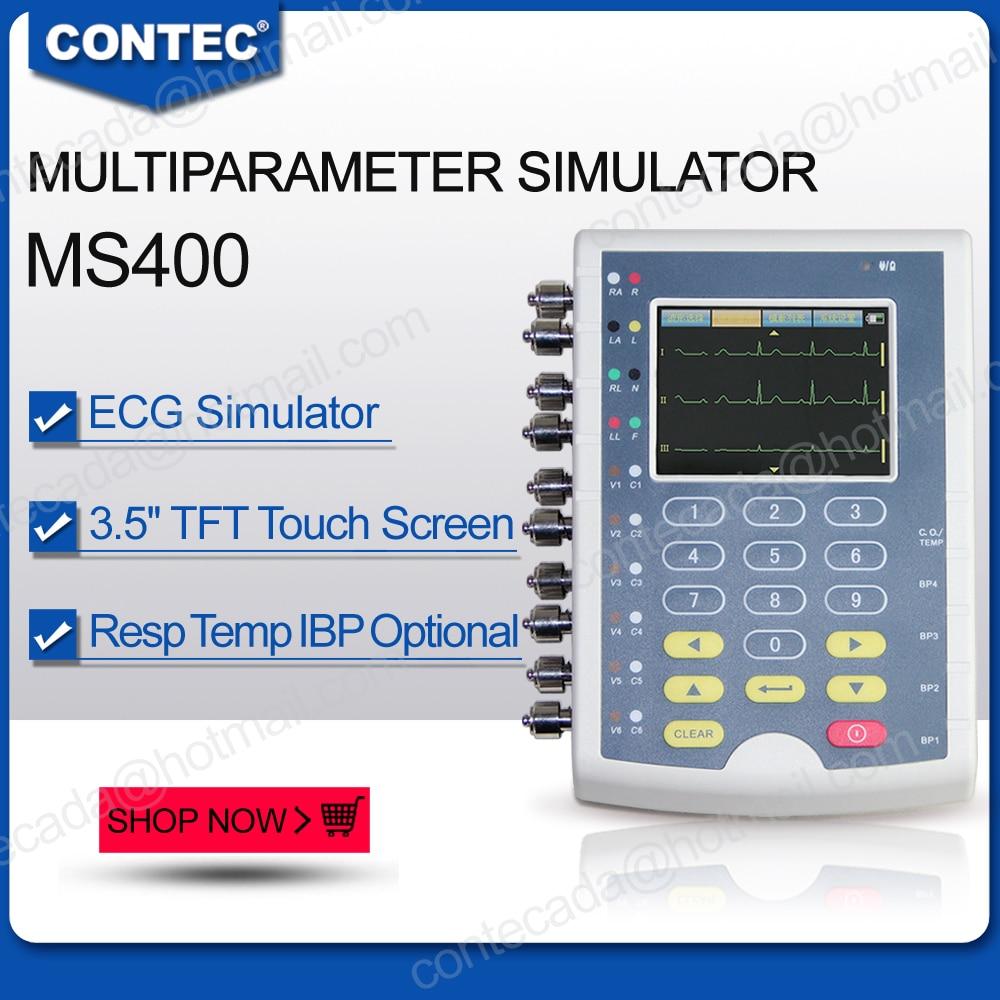 Contec Hersteller verschiffen, MS400 Multi Parameter Patienten Simulator EKG IBP Temperatur Patienten Simulator