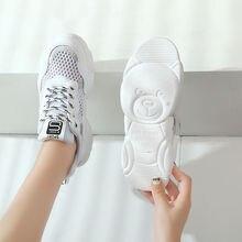 White summer sneakers women's platform shoes 2020 trendy hot style girls school slides female concise sneaker
