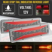 2 pces 12v dinâmico led caminhão do carro luz da cauda sinal de volta luz freio traseiro luz reversa lâmpada sinal para o caminhão reboque ônibus campistas