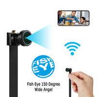 1080P 150 Gradi Mini WIFI Della Macchina Fotografica Flessibile 4K Full HD APP Ultra Video Audio Recorder Motion Detection Videocamera ip Macchina Fotografica del IP di P2P
