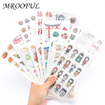 6pcs lot creative funny expression text pvc transparent korean stickers papers flakes kids decorative for cards stationery 6pcs/set Creative Stationery Stickers Cute Cartoon DIY Diary Decorative Stickers Kawaii Scrapbook Decorative Stickers Girl Gifts