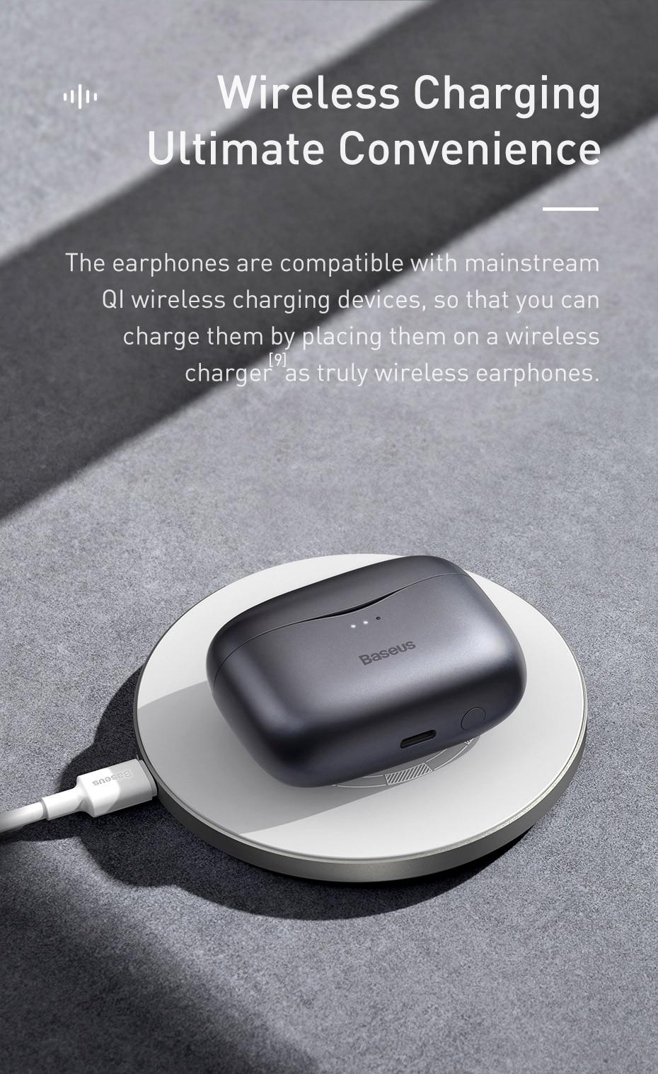 Baseus S2 ANC Earphone Active Noise Cancelling Hi-Fi Audio Gaming TWS Earphone NGS2-03 7