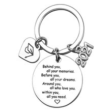 Graduation Keychain Stainless Steel Key Ring With Text And 2021 Graduation Cap Signet Pendant Congratulations Gifts