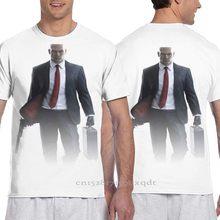 Hitman-agente 47 homens camiseta feminina por todo o lado camiseta menino manga curta camiseta menina topos camiseta