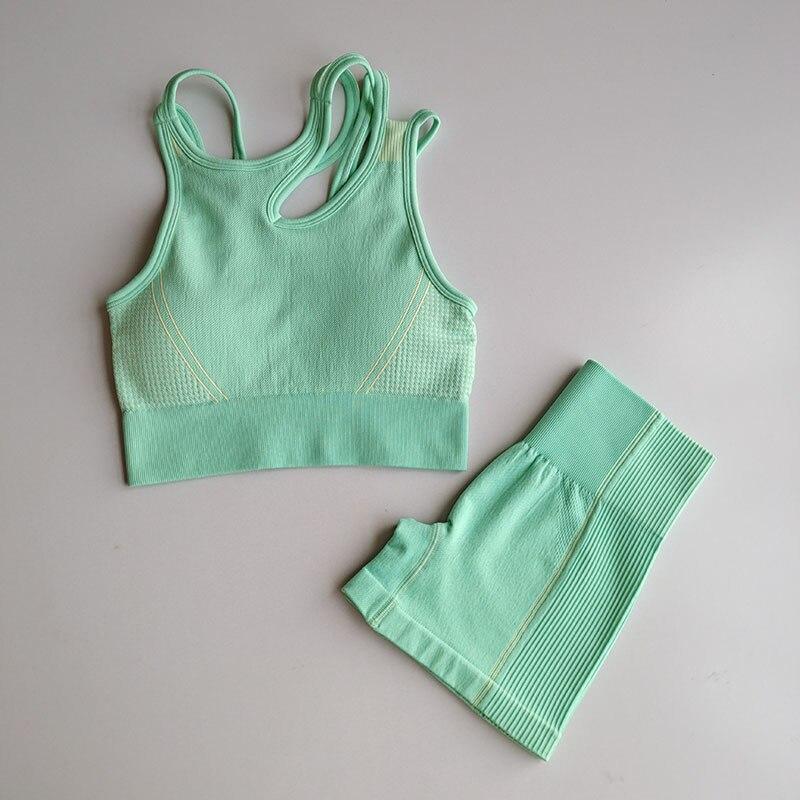 + cintura alta calções de fitness 2