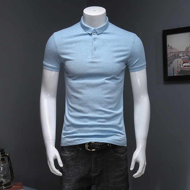 2020 Summer 5 Colors Polo Men Solid Slim Fit Short Sleeve Cotton Polo Shirt Men Business Casual