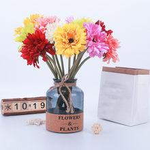 1PC Gerbera sztuczny kwiat kwiat z jedwabiu na wesele strona główna dekoracja bankiet dekoracyjne sztuczne kwiaty dla domu na wesele wystrój