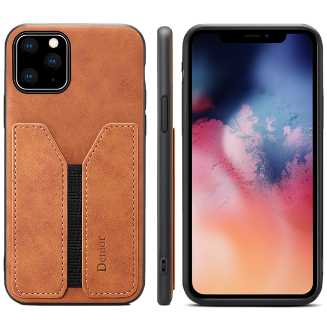 Deluxe Leather Card Holder Case for iPhone 11/11 Pro/11 Pro Max 5