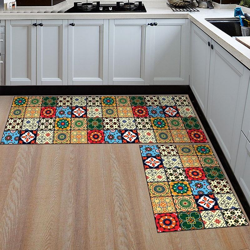 Long Kitchen Mat Bath Carpet Floor Mat Home Entrance Doormat Tapete Absorbent Bedroom Living Room Floor Mats Modern Kitchen Rug in Mat from Home Garden