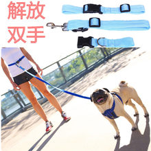 Adjustable Running Pet Traction Rope Outdoor Sports Dog Training Lanyard Pp Dog Leash Walking Dog Leash Dog Chain(China)