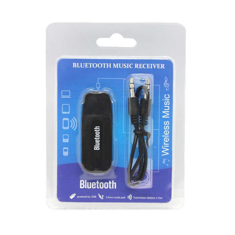 Receptor de música Bluetooth inalámbrico USB para coche de 3,5mm, adaptador de Dongle, Cable de Audio con conector para Aux y coche para altavoz mp3