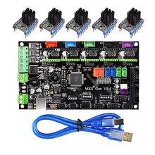 Mks gen v1.4 placa de controle de impressora, 3d para tmc2130/tmc2208/drv8825/a4988 driver reprap mega 2560 r3 placa mãe ramps 1.4 1.5 1.6