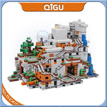 Building Blocks Bricks The Mountain Cave My World Compatible Lepinglys 21137 Christmas Birthday Gift for Toys