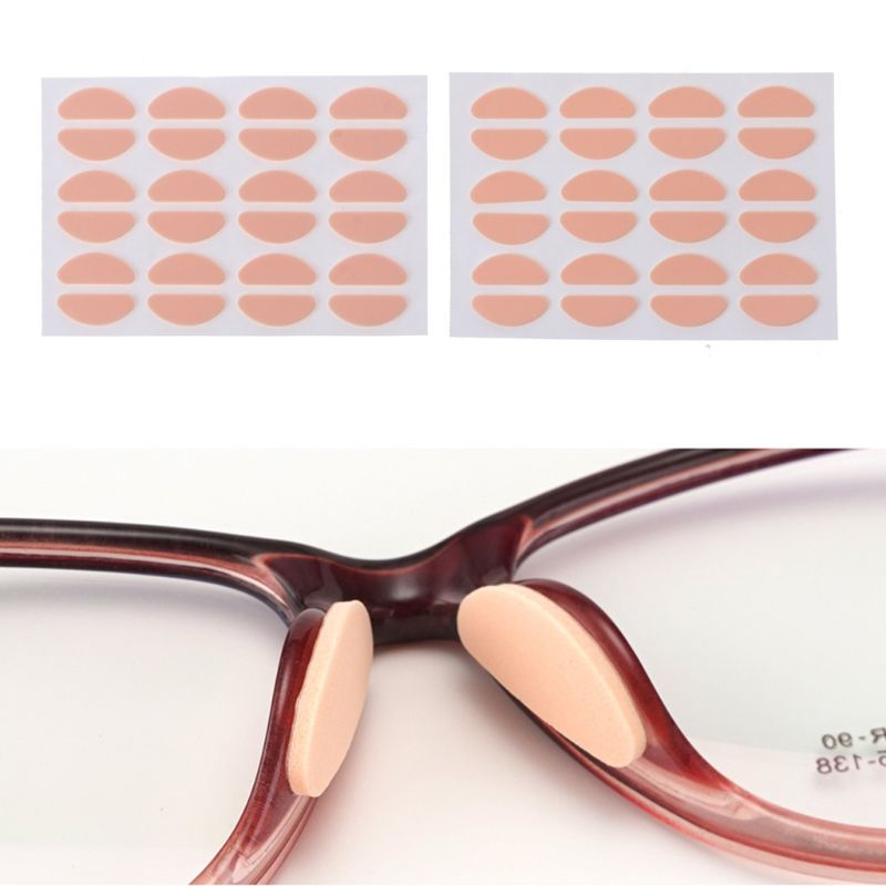 12 Pair Soft Foam Nose Pad Invisible Skin Color Glasses Holder Pads Anti-Slip Anti Makeup Eyeglass Sunglasses Nose Pads