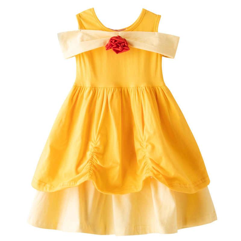 Baby Girl Verão Casual Wear Minnie Mulher Maravilha Mulan TinkerElena Rapunzel Princesa Vestido de Festa Branca de Neve