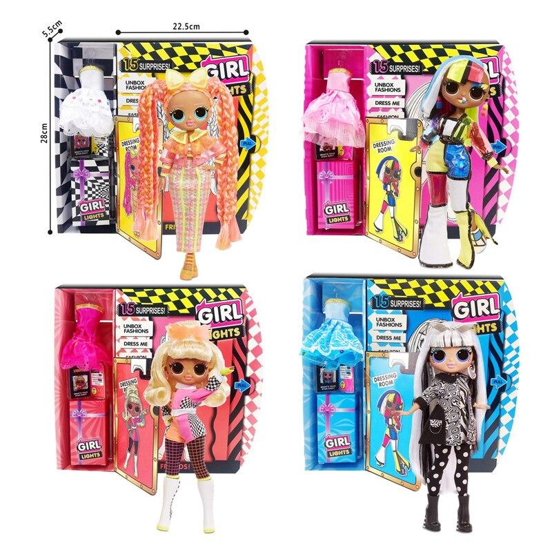 Кукла сюрприз lol, новый продукт, кукла OMG трех поколений, 9 дюймов, модная Кукла, слепые коробки, игрушки для девочек для детей