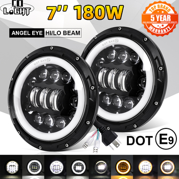 цена на CO LIGHT 7 inch Led Headlight Offroad 4x4 9000LM Hi/Low 12V 24V LED DRL 7 Led Headlamp for Motocycle Lada Niva UAZ 3500K 6500K