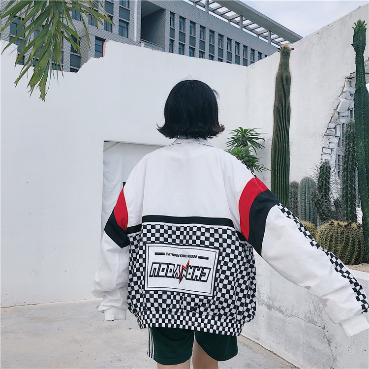 H59699172ae4643de884ccb5d042423788 #5601 Summer Sunscreen Windbreaker Women Korean Fashion Thin Coat School Harajuku Baseball Hip Hop Jacket Streetwear