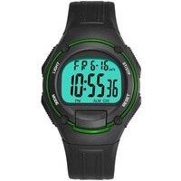 Synoke chronograph men relógios digital esporte 3bar resistente a choques repetidor acrílico volta luz moda simples homem relógio de pulso 2