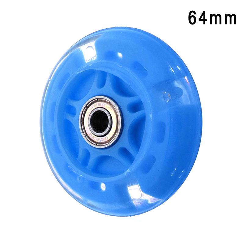 4 Pcs Inline Skates Wheels Flash Light Up With Magnetic Core Sliding Roller Skating ASD88