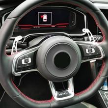 2 шт., автомобильный рычаг переключения передач на рулевое колесо для VW GOLF GTI R GTD GTE MK7 7 для POLO GTI Scirocco 2014 2015 2016 - 2018