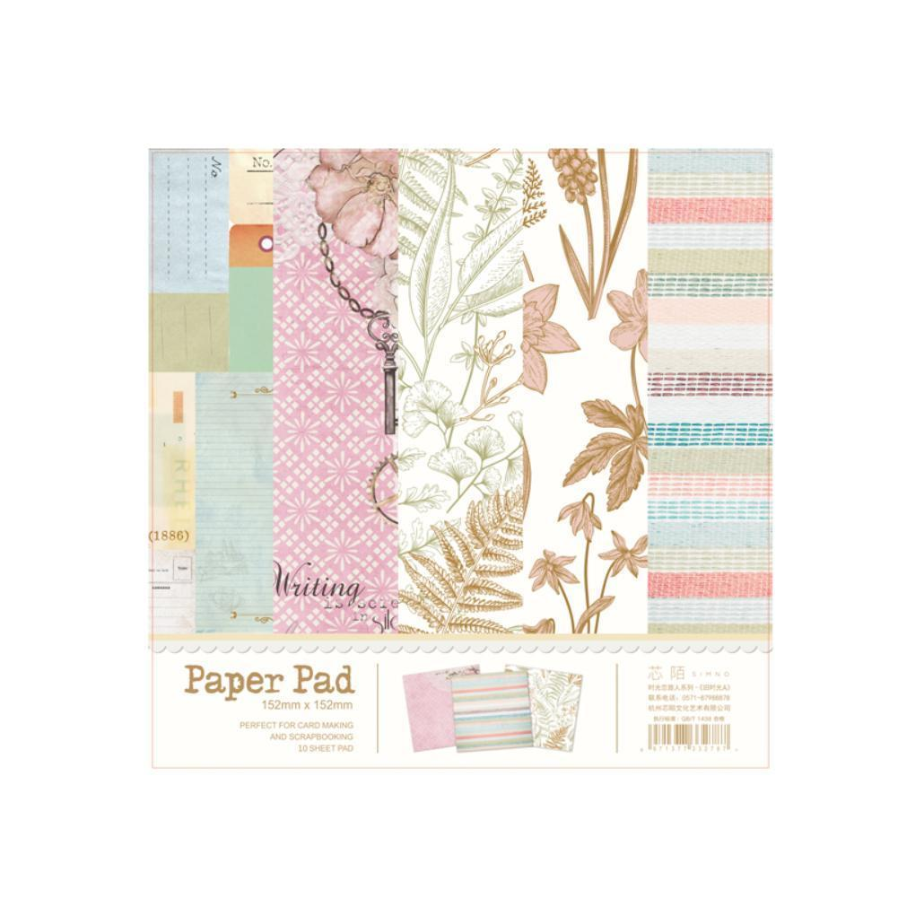 New Design 10 Sheets Lovely Series Material Paper Set DIY Making Crafts Card Photo For Scrapbooking Album Projects A2M7