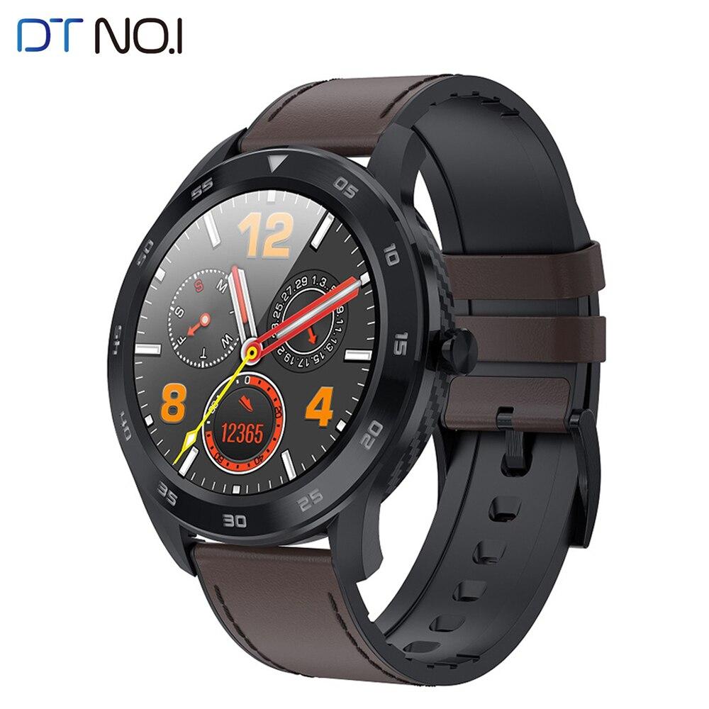 DTNO. I N° 1 DT98 Montre Intelligente IP68 Étanche Pression Artérielle Moniteur De Fréquence Cardiaque Fitness Tracker 1.3 Pouces HD Écran Smartwatch