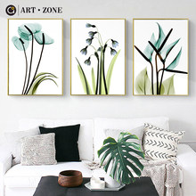 ART ZONE Flower Water Colour Painting Plant Simple Art Wall Print Poster Home Bedroom Decorative Picture Flower Art Poster(China)