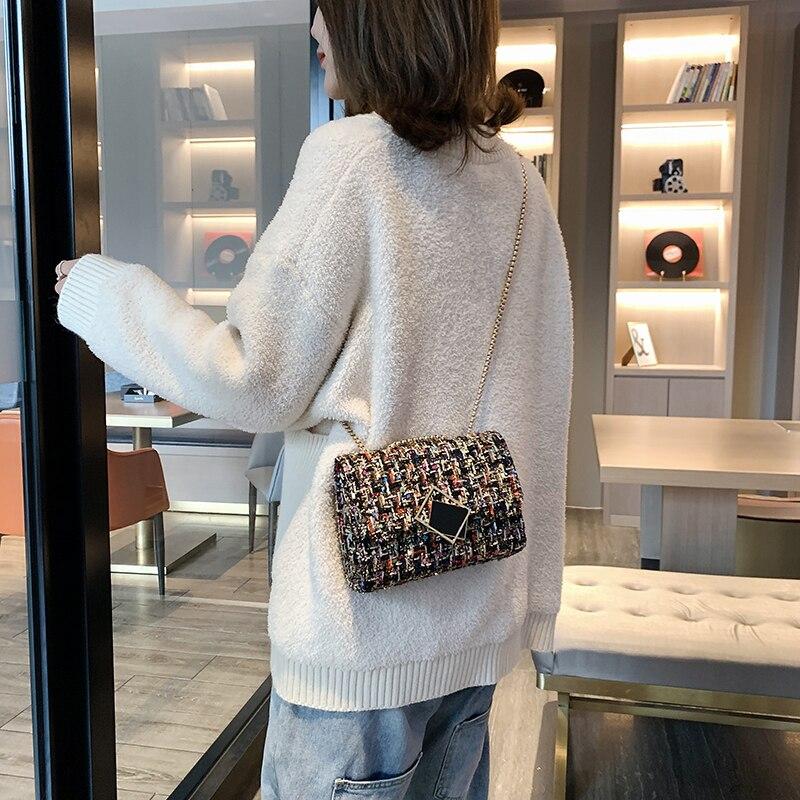 2020 Shoulder Bag Luxury Handbags Women Bags Designer Version Wild Girls Small Square Messenger Bag Retro Lady Elegant Handbags