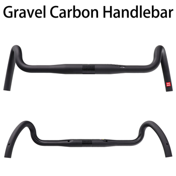 Carbon Gravel handlebar Big Flare Bar Cyclocross Road Bike handlebars 400/420/440mm 2017 newest qilefu road bike racing ud full carbon fibre bicycle handlebar internal cable 31 8 400 420 440mm parts free shipping