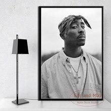 Tupac Shakur 2PAC Outlaw Rap Music Rapper Star Hip Hop Art Painting Vintage Canvas Poster Wall Home Decor