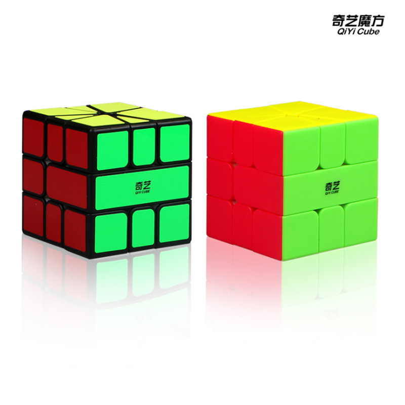 QiYi QiFa SQ1 Magic Cube Colorful Cubo Magico Puzzle Education Toys For Children For Adults - Black