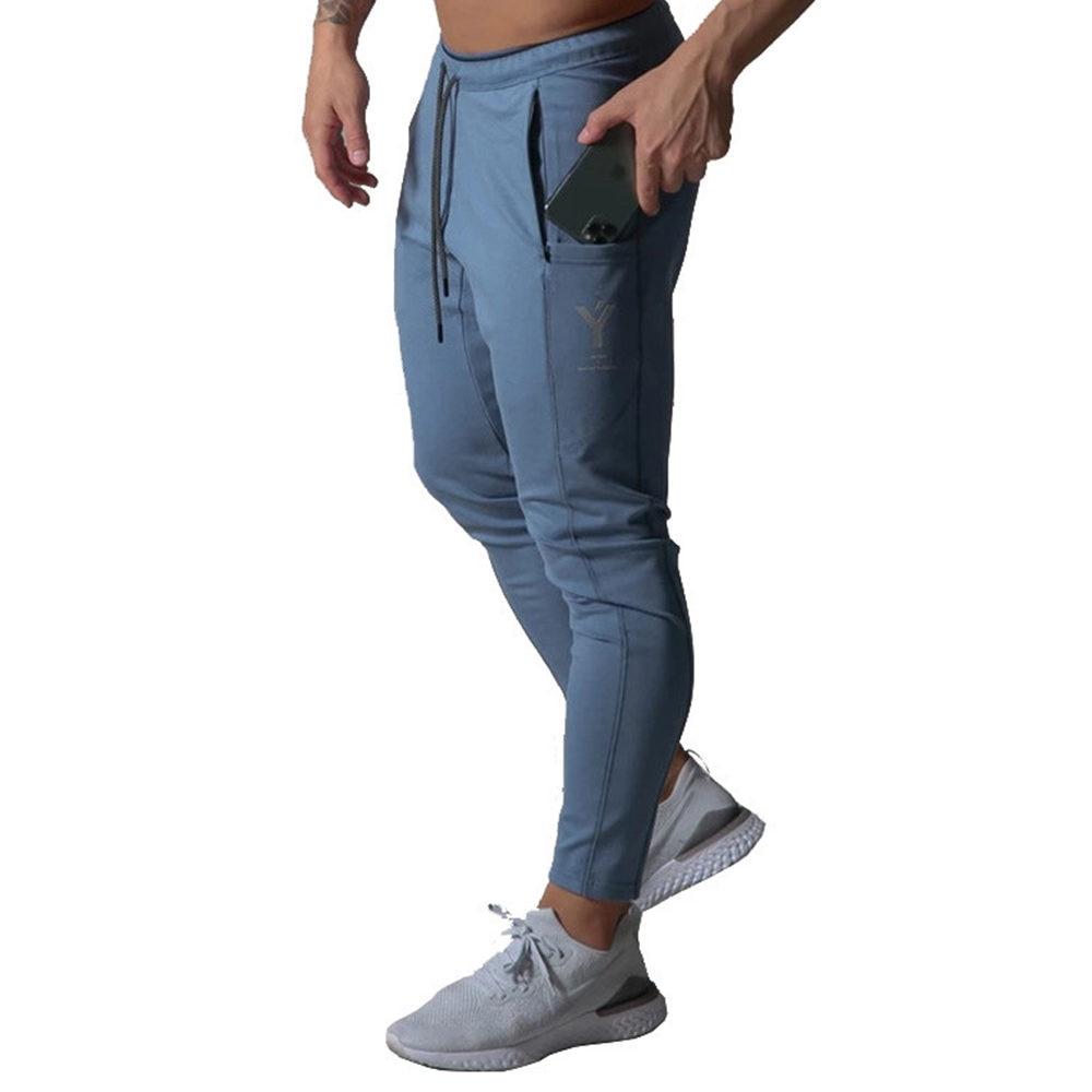 Брюки мужские спортивные повседневные, джоггеры, штаны для бодибилдинга, хлопковые тренировочные штаны для спортзала, фитнеса, демисезонна...