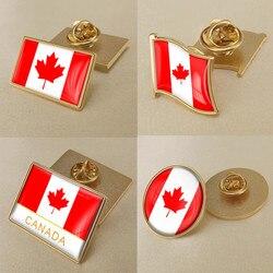 Герб канадский карта Национальный флаг Эмблема с национальным цветочным брошь значки нагрудные знаки