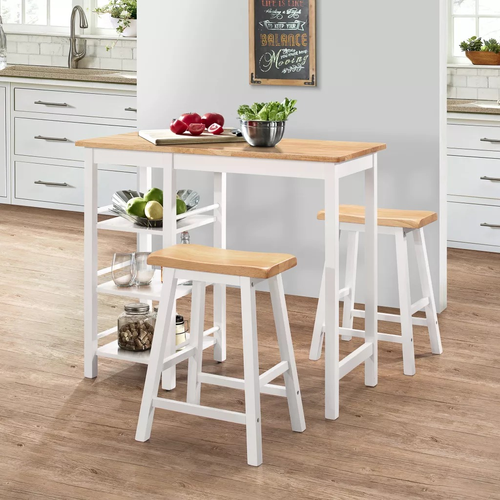 VidaXL Bar Set 3 Pieces MDF White 245364