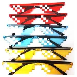 2019 цветные солнцезащитные очки Thug Life мужские мозаичные солнцезащитные очки 8 бит MLG Pixelated очки Солнцезащитные очки женские винтажные очки G404
